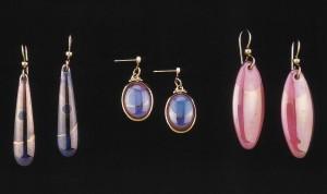 A Fine Line - Ceramic Earrings